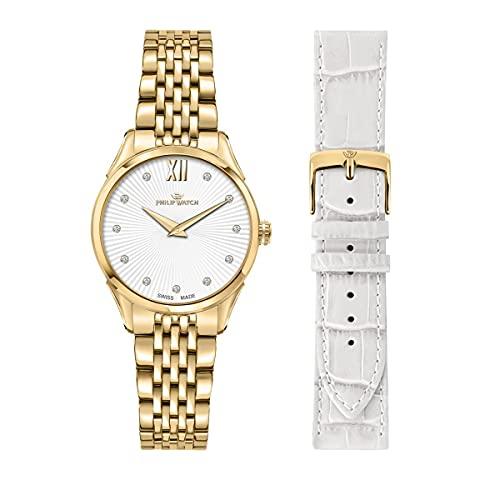 Philip Watch Reloj Mujer, Colección Roma, Cuarzo, Solo Tiempo - R8253217505