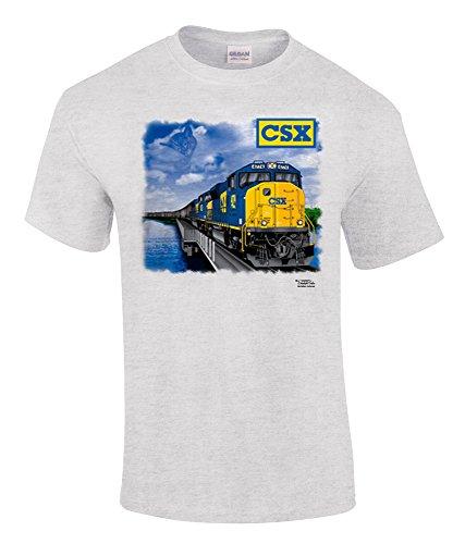 Daylight Sales CSX Chessie Lives SD70ACe Authentic Railroad T-Shirt [35] (Kids, Medium, Grey)