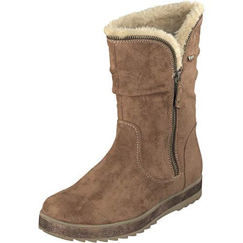 Relife Damen Winter Stiefel gefüttert 8717-17807B-03R in 2 Farben (37 EU, Camel)