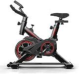Bicicleta estática de ejercicio en interior con manillar y asiento cómodos, bicicleta para spinning con monitor LCD para gimnasio en casa