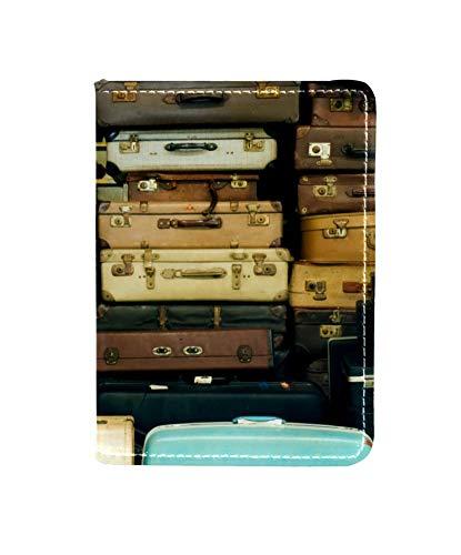 TIZORAX Funda de piel para pasaporte, diseño vintage