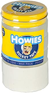 Howies Hockey Tape - Cinta Adhesiva para Hockey, 3 Transparentes, 2 Blancas y 1 Cera