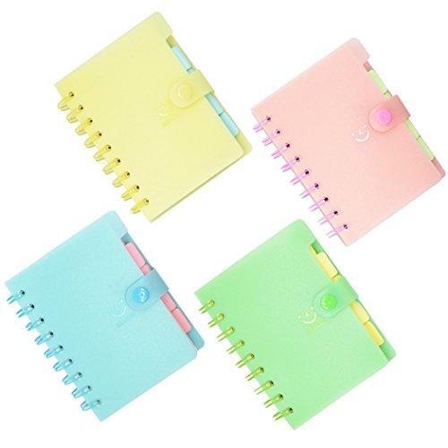 4 Stück Notizbuch a6 Notizheft Spiralbuch, 120 Seiten creme liniert Spiral Notebook Taschen Notebook, Mini Notizblock Memo für Outdoor-Aktivitäten, Reisen, Geschäftsreise oder Schüler (9 x 13cm)