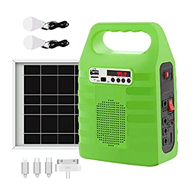Solar Generator portable power station with Solar Panel Included Solar Power Bank Generator Solar Powered Generators KitFor Home Emergency Backup Power Outdoor Camping With Flashlights FM Radio
