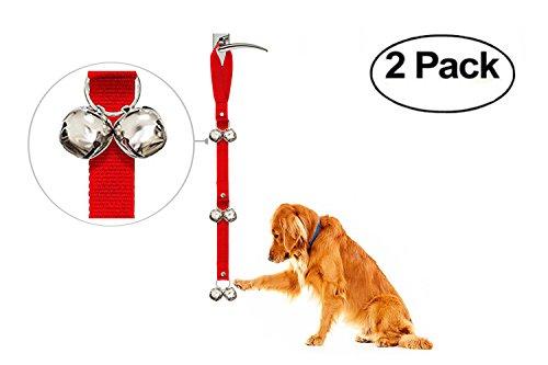 Orchidtent Einstellbare Töpfchenglocken / Hundeklingel für Haustraining Kleine, Mittlere und Große Hunde (Rot)