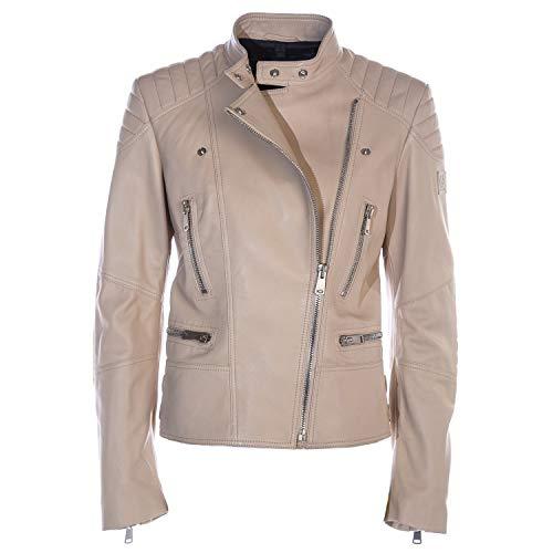 Belstaff Sidney Ladies Leather Jacket in Pale Oak US 4