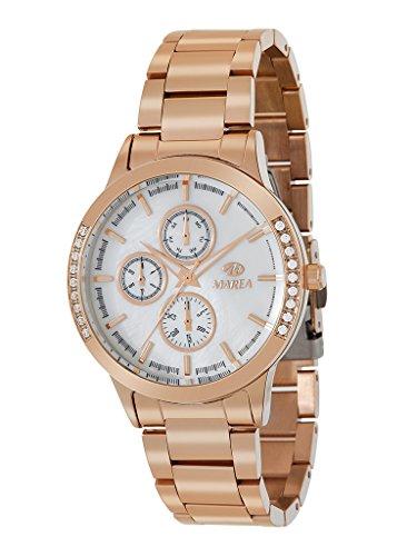Marea B41237/3 Reloj para Mujer con Correa en Bronce y Pantalla en Blanco
