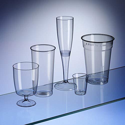Avenue\'s Einweggläser-Set für Partys, 180StückPint-Gläser (50), Softdrinks, Longdrinks, halbe-Pint-Gläser (30), Wein (30), Sekt (20) und Schnaps (50).