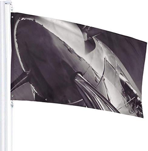 N/A USA Guard Vlag Banner Tuinvlaggen Mustang Vliegtuig Duurzame Binnen Gebruik Yard voor UV Bescherm Patio Gazon Decoratie 3x5 Ft