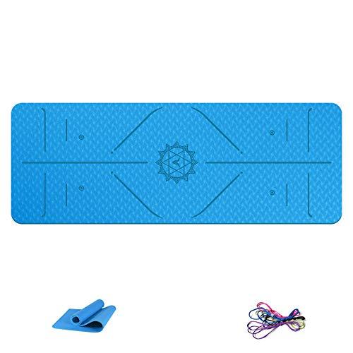 B/H Esterilla Deporte,Posture Line Esterilla de Yoga Antideslizante Esterilla de Fitness-A6_183X80X0.8cm,Yoga Mat diseñado para Entrenamiento físico