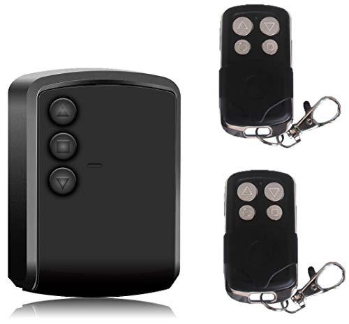 Universele regeleenheid voor rolluiken, voor rolluiken, buizenrollen, ontvanger en 2 afstandsbedieningen met mogelijkheid voor het verbinden van fotocellen of knipperen.