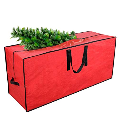 "Primode Xmas Tree Storage Bag | Fits Up to 9 Ft. Tall Disassembled Holiday Tree I 65"" x 15"" x 30"" Tree Storage Container 