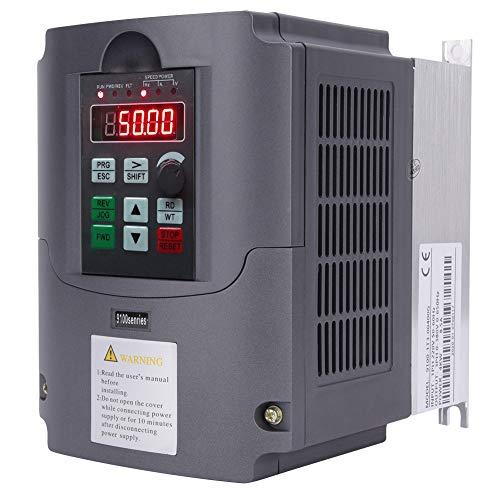 220V 4KW VFD Variateur de fréquence,AC 1PH 220V Entrée AC 3PH 0V-380V Sortie Convertisseur de Fréquence, Convertisseur D'Inverseur de ContrôLeur de Variateur de Fréquence