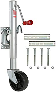 Trailer Tongue Jack 1000 Lb with Swivel Mount & Poly Wheel Caster; for 3