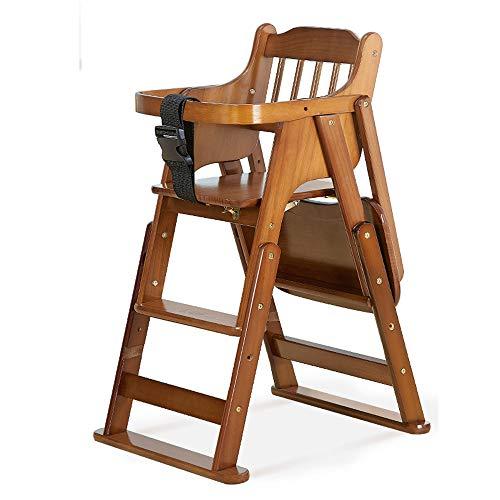DEI QI Bébé Chaise Enfants Table Chaise for Enfants Chaise Pliante Portable Multi-usages Manger Chaises Enfants siège en Bois for bébés et Enfants en Bas âge réglable en Hauteur (Couleur : Marron)