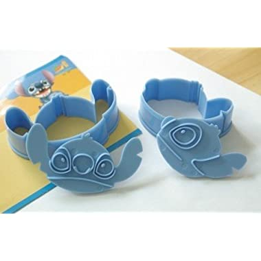 Wholeport 2 pcs/set Disney Stitch Shape Molds ABS Material Cookie Cutters