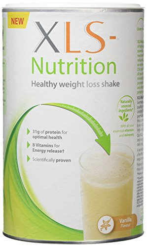 XLS-Nutrition Weight Loss Meal Replacement Shake - Weight Control Diet Supplement - 400g, Vanilla Flavour, 10 Servings with Shaker