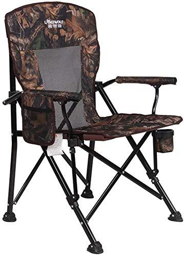 Beach chair CWT - Silla plegable para exteriores (300 kg, sin montaje, silla de pesca, mesa de ocio, color A)