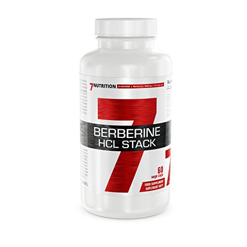 7Nutrition Berberine HCL Stack 440mg | 60 Vegetarian Capsules | Blood Sugar and Cholesterol Control | 2 Months Supply