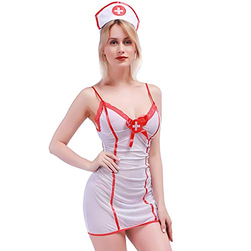Lingso Outfits Nurse Lingerie Uniforme Girl Costume Women Hot Bodystockings Nightie for Wife Gift