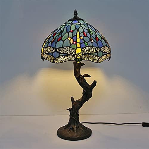 XYQS Pastoral Estilo 12 Pulgadas lámpara de Mesa Europeo Estilo libélula lámpara de Mesa lámpara de café lámpara de Noche lámpara de protección de Ojos (Color : 3, Size : 12inch)