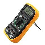ACEHE Multímetro Digital, multímetro Digital Xl-830L Voltímetro LCD Amperímetro Ohmímetro Ohm Volt Tester Multímetro Digital de Mano