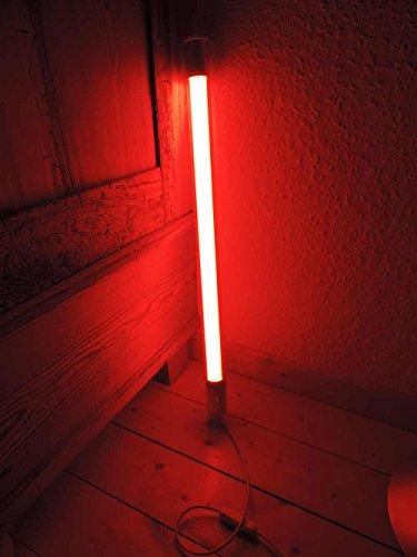 Unbekannt Led Leuchstab IP20 63cm rot 10Watt Party Deko Emergiesparend farbig