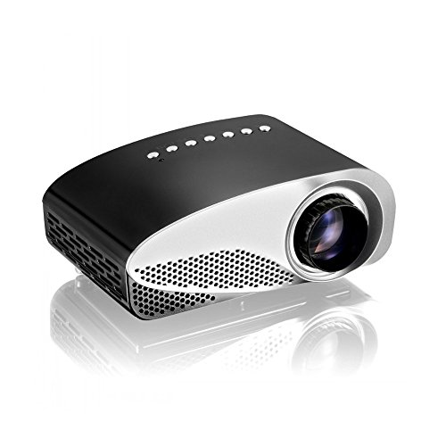 GP8S Portable Mini Pocket Projector Portable Video Projector Fashion LED Projector Easy Projection for for TV/Movie/Game