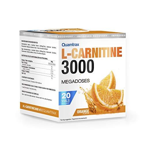Quamtrax Nutrition L-Carnitine 3000, Naranja - 20 viales x 25 ml