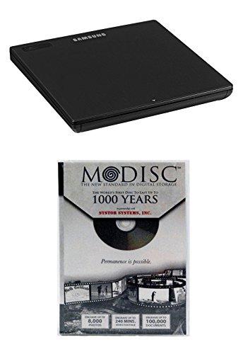 Samsung 8x se-218gn/RSBD externer DVD-Brenner Paket mit 10Pack M-Disc-DVD–Unterstützt m-disc Mac OS X kompatibel (schwarz, Einzelhandelsverpackung)