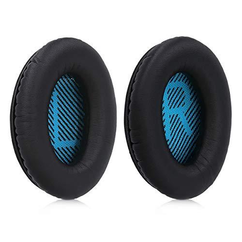 kwmobile 2X Ohrpolster kompatibel mit Bose Soundlink Around-Ear Wireless II Kopfhörer - Kunstleder Ersatz Ohr Polster für Overear Headphones