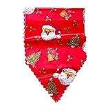 Ba30DEllylelly Runner da tavola natalizio 35 * 180cm Decorazione per tovaglia natalizia con tappezzeria ricamata in poliestere