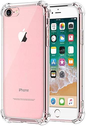 MYRLAND Transparente Anti Shock Handyhülle, Kompatibel mit iPhone SE 2020 / iPhone 8 / iPhone 7,...