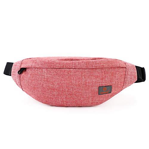 Tinyat Travel Fanny Bag Waist Pack Sling Pocket Super Lightweight For Travel Cashier's box, Tool Kit T201, Red