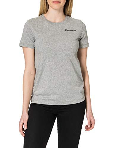 Champion Legacy Classic Small Logo Camiseta, Gris Jaspeado Claro, XXL para Mujer