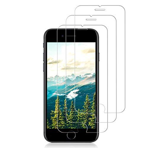 Protector de Pantalla de Cristal Templado, Compatible con iPhone 7/8/SE 2020 (4.7'), 3D, dureza 9H, 0,33 mm, Ultra Transparente, Vidrio Templado HD (iPhone 8/7/6S/6)