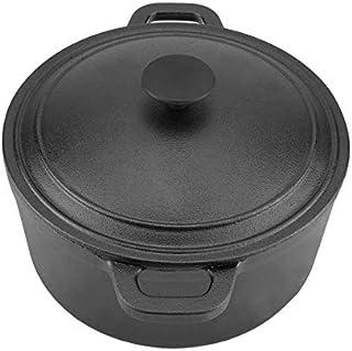 Olla portátil de hierro fundido antiadherente para horno al aire libre, camping y barbacoa.