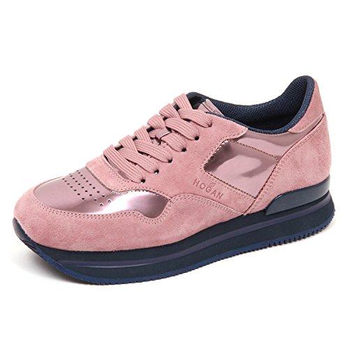 Hogan E0306 Sneaker Donna rosa H222 Suede Shoe Woman [36]