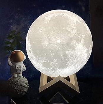 NSL Lighting Moon Lamp Moon Light Moon Night Light Moon Lamp for Bedrooms 3D Printed Moon Lamp Luna Lamp Kids Night Light Moon Night Lights for Kids lampara de Luna 4.8inch 16Colors