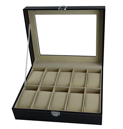 Doubleblack Cuero Reloj Caja para 10 Relojes