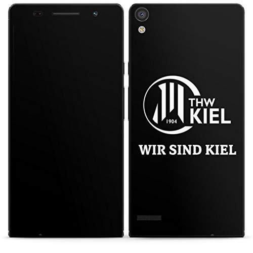 DeinDesign Folie kompatibel mit Huawei Ascend P6 Aufkleber Skin aus Vinyl-Folie Handball THW Kiel Fanartikel