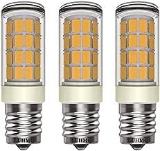 LUHMQ E17 LED Bulbs 3 Pack for Under Microwave Light Bulbs,Over Stove Lights,Range Hood,3.5W (35W Halogen Bulb Equivalent) 350 Lumen AC120V E17 Bulb Home Lighting(Warm White 3000K)