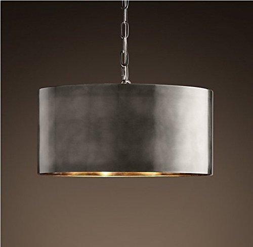 YanCui@ Soggiorno e sala/bar/sala da pranzo/camera da letto Lampadari In alluminio Lampadario in ottone antico argento gentiluomo 40cm