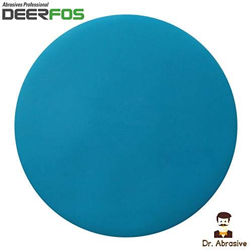 Disco de lija de 125 mm para secar o mojado, resistente al agua (303) película DEERFOS gancho & Loop paquete de 25 / P1000
