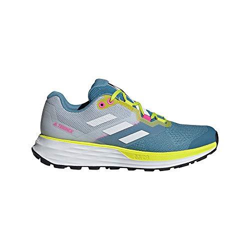 adidas Terrex Two Flow W, Zapatillas de Trail Running Mujer, AZUBRU/Balcri/AMAACI, 42 EU