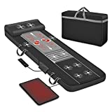 Full Body Massage Mat, Shiatsu Back Massager with Heat & 10 Motors Vibrating Massage Mattress, Shiatsu Massage Pad for Bed,Massager for Neck and Back,Thighs,Legs
