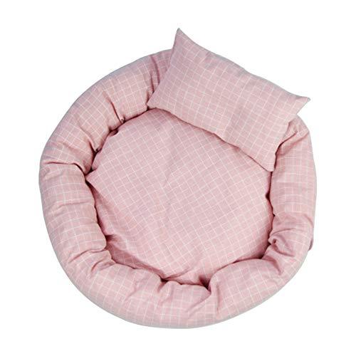 Pet Bed pluche dier hond kat rond warm klein bed zacht puppy sofa cat mat bed orthopedische slaapzak orthopedische slaapzak en verbetering van de slaap, anti-slip bodem, wasbaar in de wasmachine