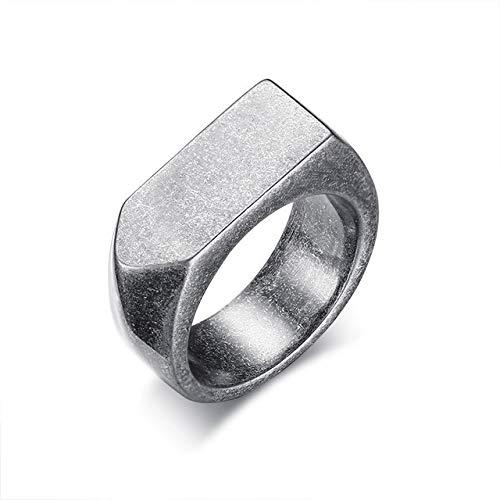 YDMZMS Verschillende Kleuren Vitaliteit Ring Voor Mannen RVS Gepersonaliseerde Graveren Platte Top Ringen Sieraden Accessoires
