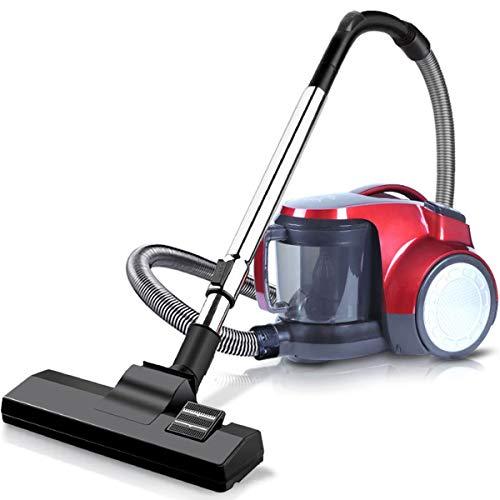 ZMING Huishoudelijke horizontale stofzuiger, stil en praktisch 1600-W tapijt voor de high-performance reiniging (kleur: rood/oranje)