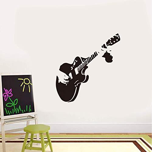 Música Guitarra Pegatinas De Pared Sala De Estar Sala De Música Comedor Vitrina Decoración Del Hogar Pegatinas De Arte Mural
